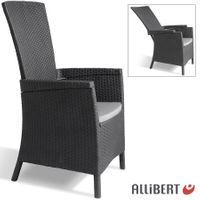 Allibert Lida Gartensessel 4-fach verstellbar Liegestuhl Gartenstuhl Terrasse 001