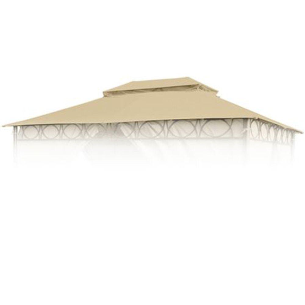 Ersatzdach natur für Cape Town Garten-Pavillon 4x3m Pavillondach Kaminabzug