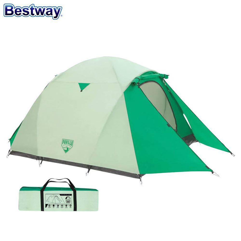 Bestway Campingzelt Cultiva X3 Igluzelt Kuppelzelt Outdoor Trekking 3 Personen – Bild 1