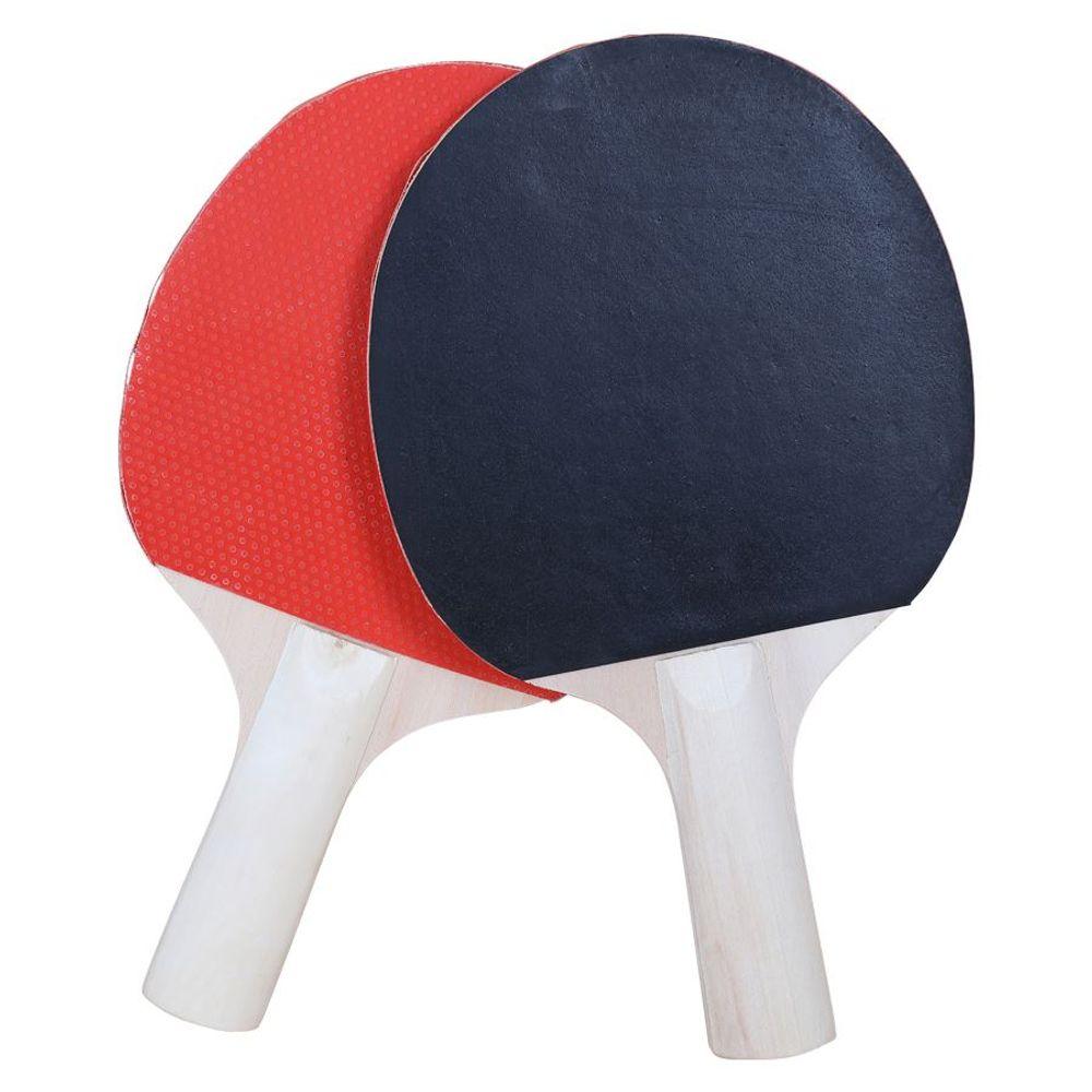 9-tlg.Tischtennis-Set Netz+Halterung Tischtennisball Holzschläger Tennisschläger – Bild 2