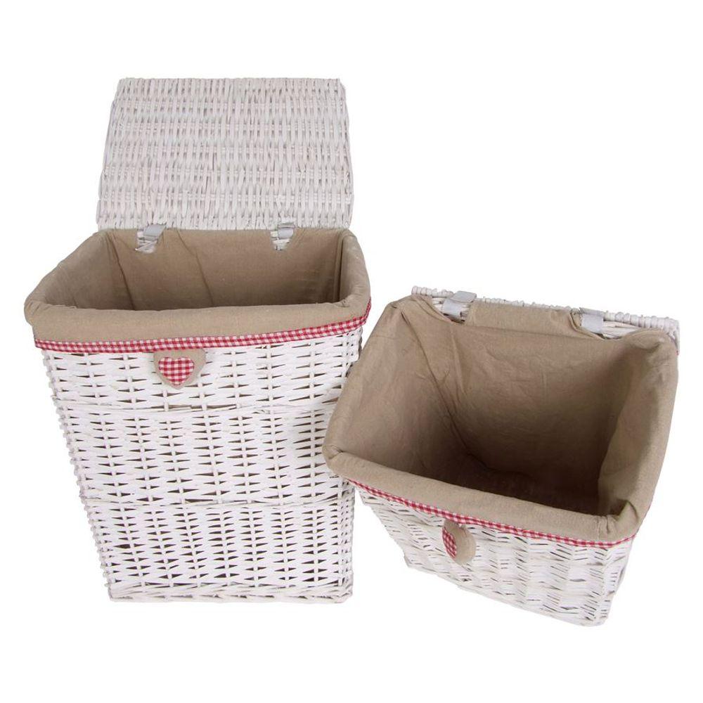 Geflechtkörbe-Set 5-tlg. Wäschekorb Wäschesammler Badezimmer-Aufbewahrungskorb – Bild 2