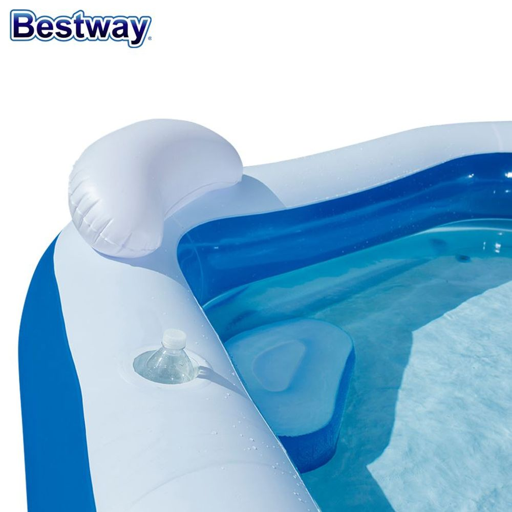 Bestway Family-Fun-Pool 213x207x69cm Relaxpool Lounge-Swimmingpool Planschbecken – Bild 3
