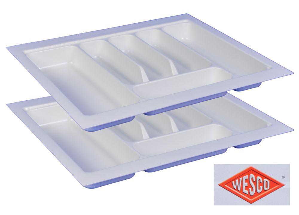 2er Wesco Besteckkasten 6 Fächer 53x43,5x5,4cm Besteckeinsatz Besteckschublade – Bild 1
