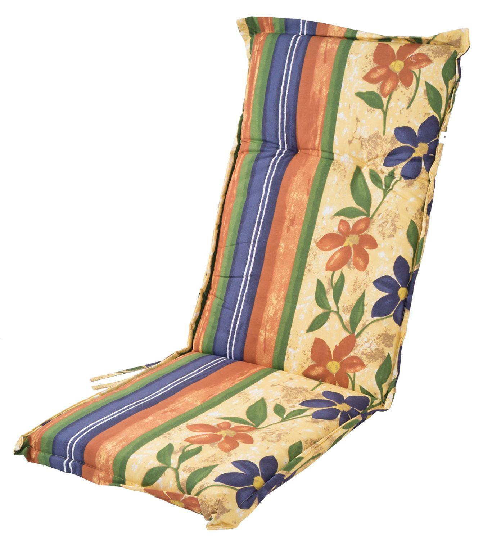 Polsterauflage Für Hochlehner Gartenstühle Sitzkissen Sesselauflage