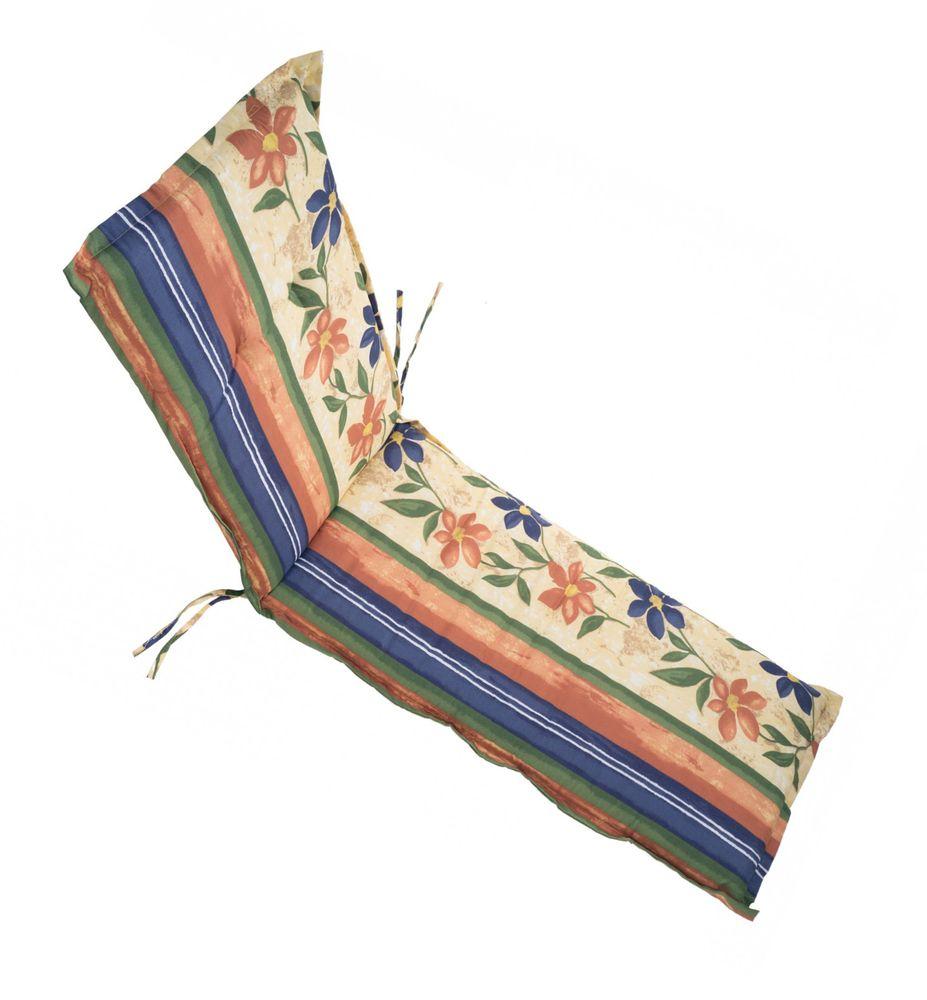 Polsterauflage für Gartenliegen Rollliegenauflage Liegestuhlpolster Sitzkissen – Bild 1