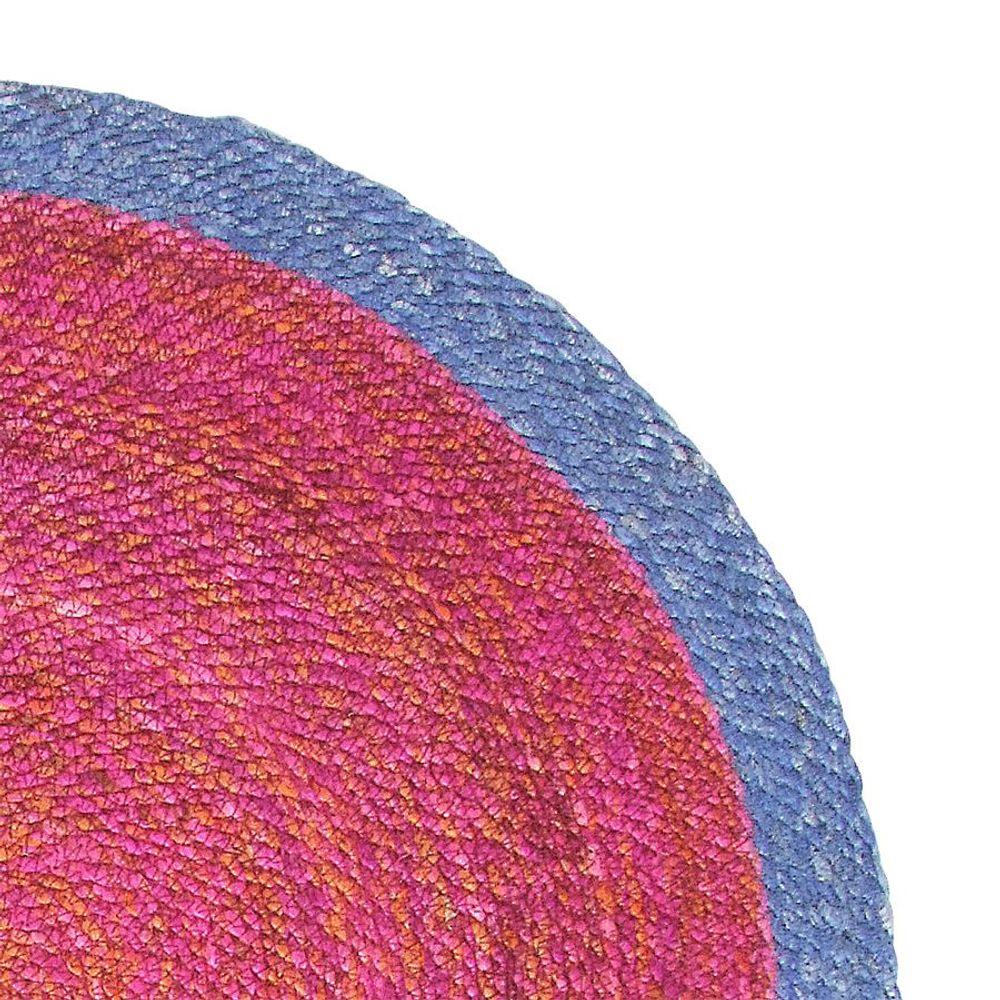 Jute-Teppich rund 80 x 0,5 cm Läufer Vorleger Wohnzimmerteppich Deko Brücke – Bild 4