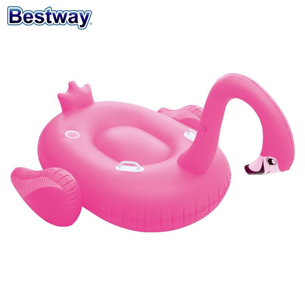 Bestway Schwimminsel Flamingo Badeinsel Schwimmliege Badeliege Luftmatratze Pool – Bild 2