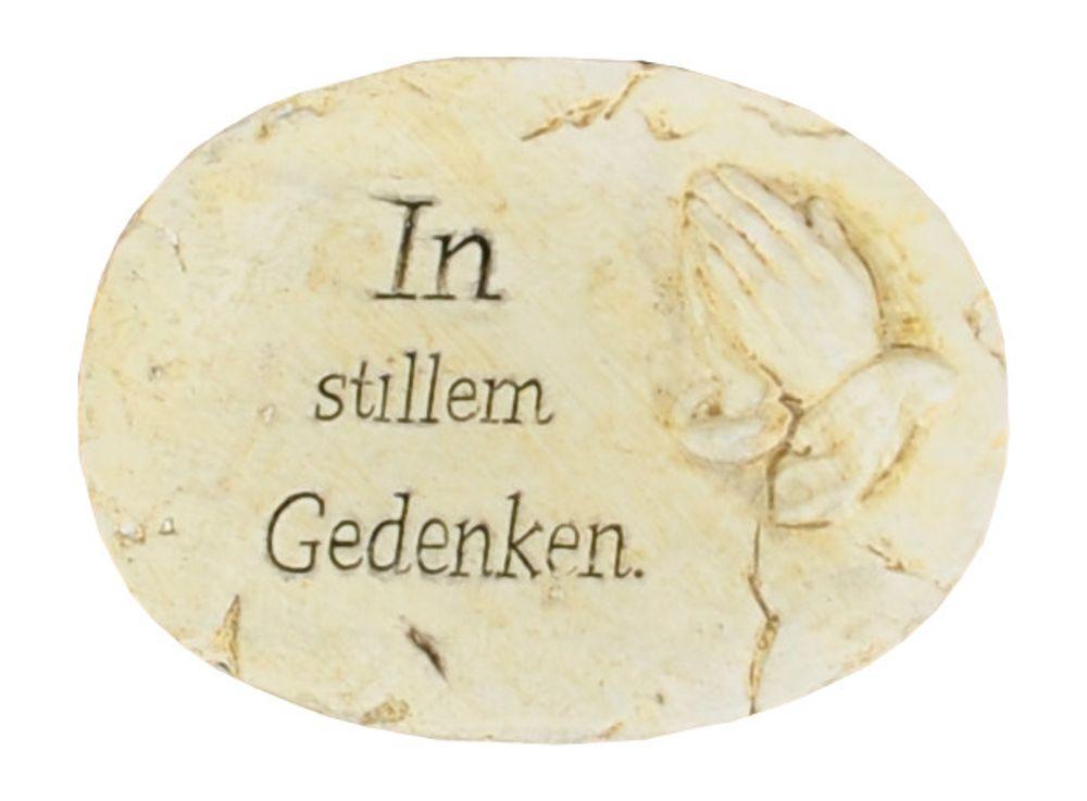 Grab- Spruchstein mit Aufschrift oval Grabschmuck Gedenkstein Dekoration Garten – Bild 4
