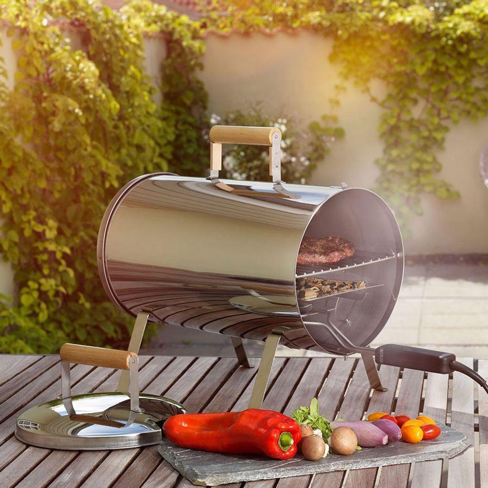 Tragbarer Elektro-Smoker Tischräucherofen Grill Räuchertonne Garten Camping 230V – Bild 1