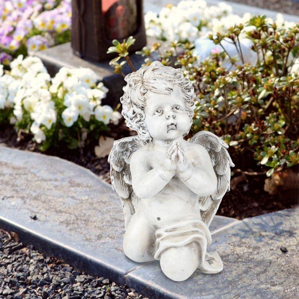 Betender Engel 26cm Engelsfigur Gartendeko Grabschmuck Schutzengel Dekoengel  – Bild 2