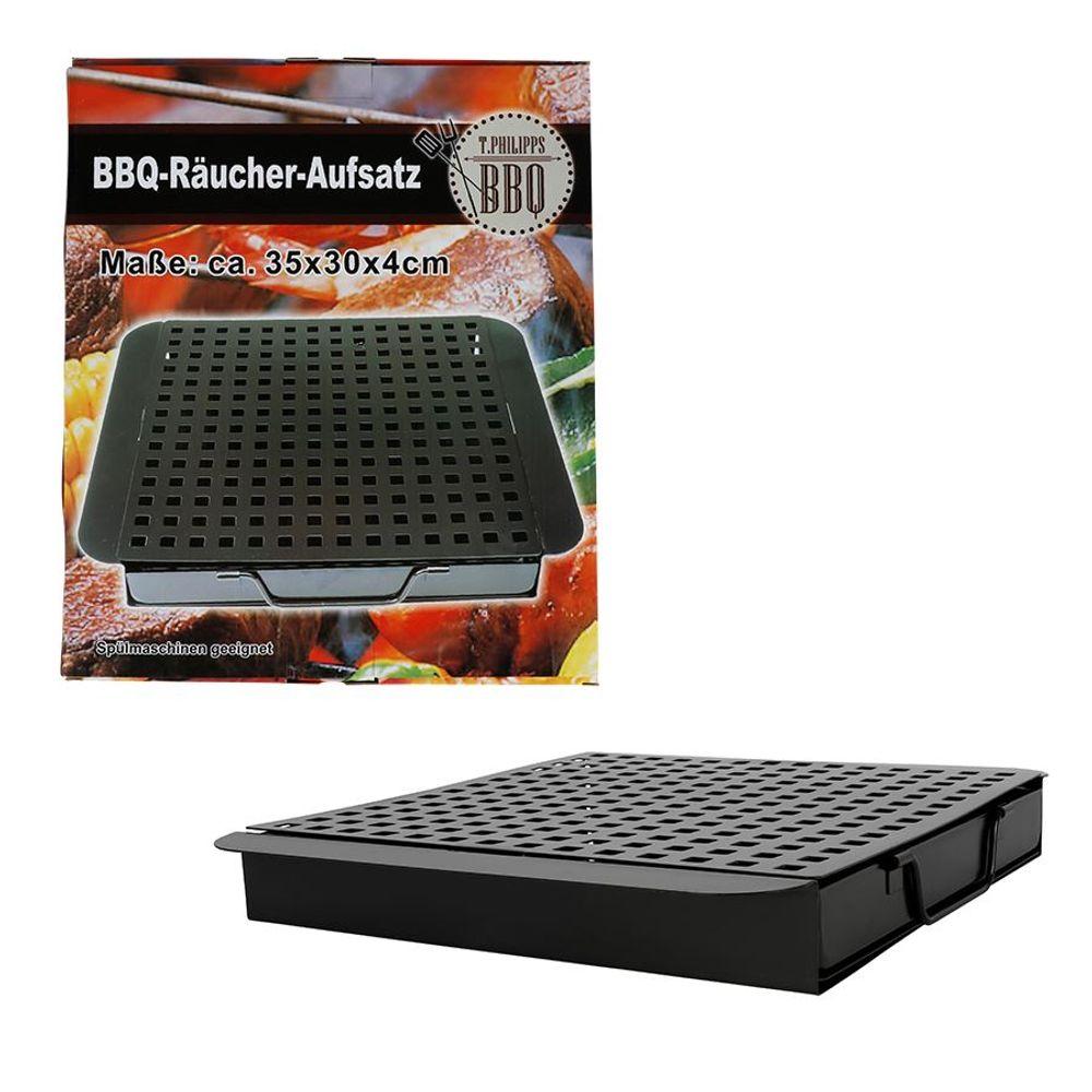 BBQ-Räucherbox mit Einsatz Smokerbox Aromabox Räucherdose Barbecue Grillzubehör – Bild 1