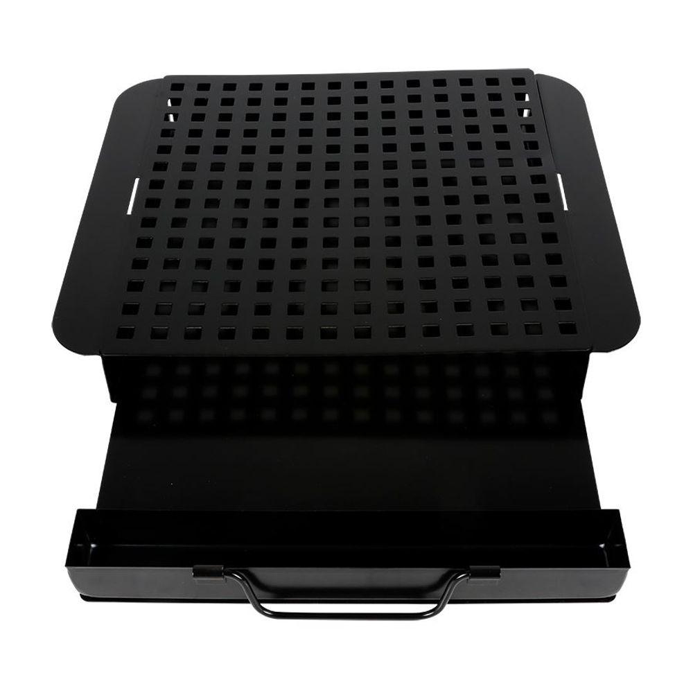 BBQ-Räucherbox mit Einsatz Smokerbox Aromabox Räucherdose Barbecue Grillzubehör – Bild 3