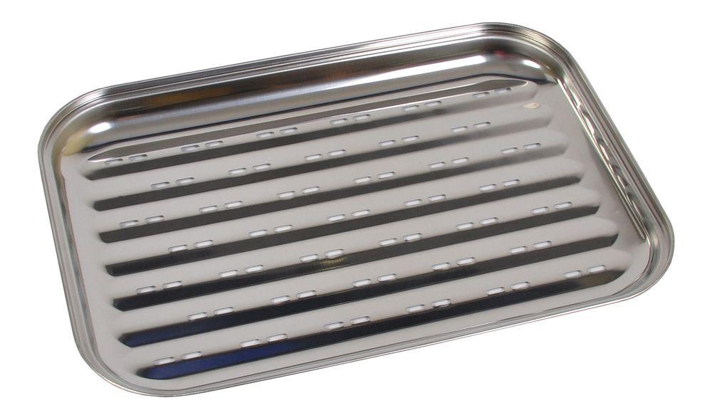 BBQ-Grillschale aus Edelstahl 35x24cm Grillzubehör Pfanne Gemüseschale Grillkorb