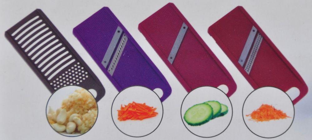 Multifunktionsreibe mit Auffangschale Gemüseschneider Hobel Hächsler Küchenset  – Bild 3
