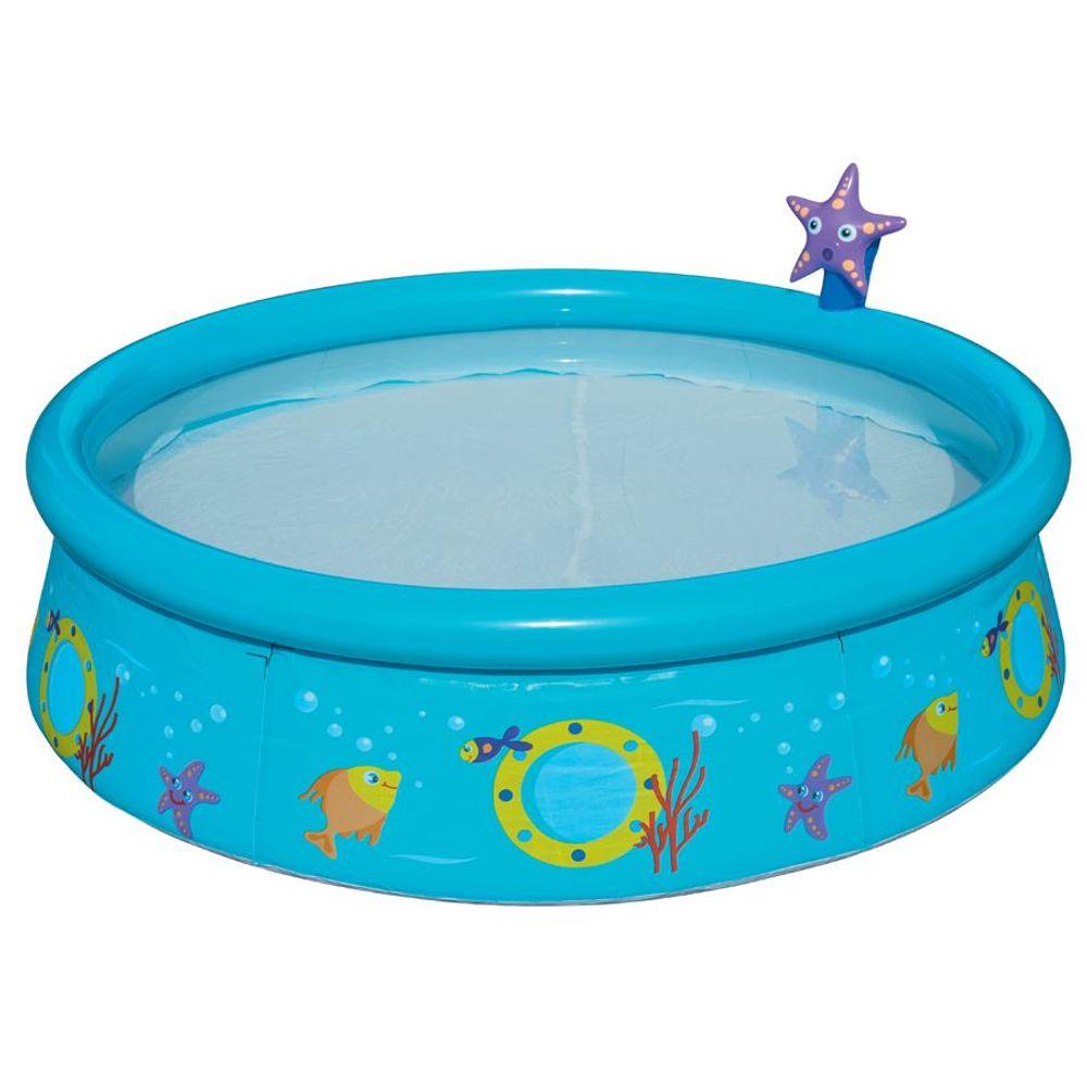 Bestway Kinderpool mit Wassersprüher 152 x 38 cm Plansch- Becken Badespaß Baby – Bild 3