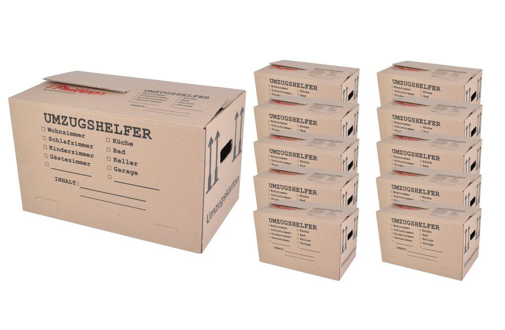 Umzugskarton 10 Stück bedruckt 59x34x35cm Traglast bis 30kg Aufbewahrung Kiste  – Bild 1
