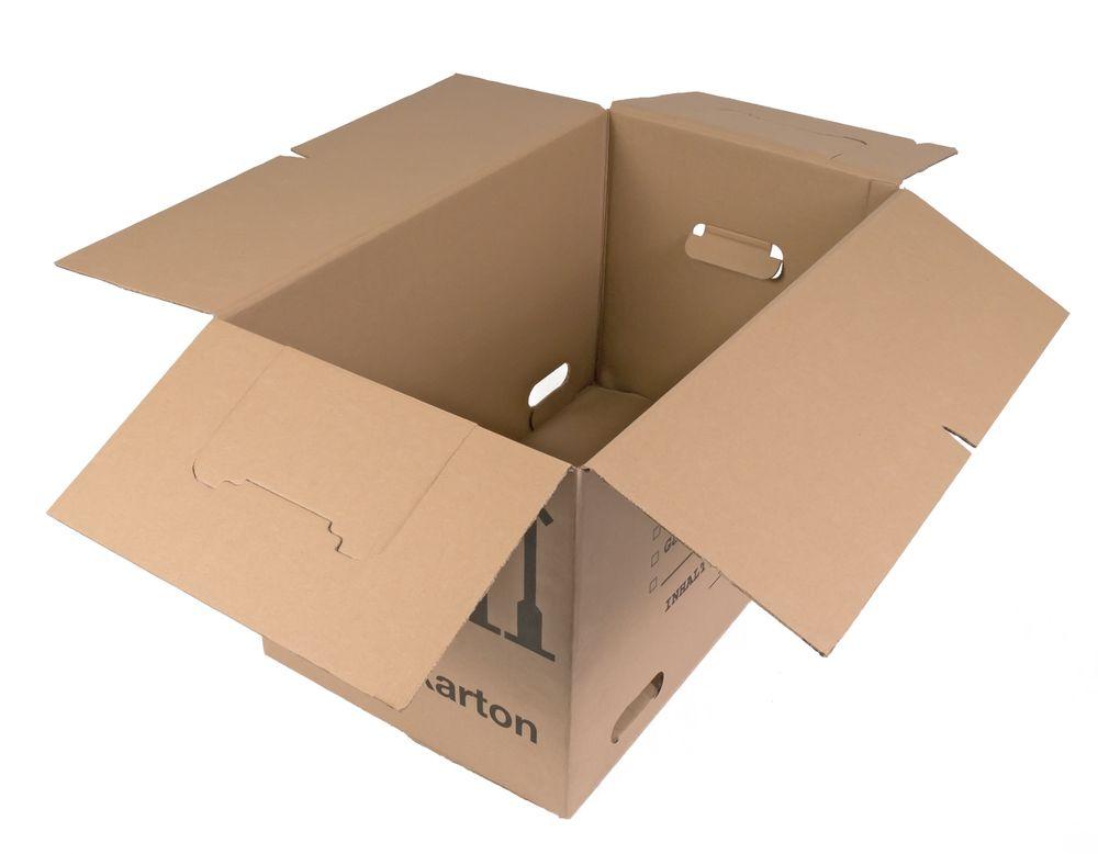 Umzugskarton 25 Stück bedruckt 59x34x35cm Traglast bis 30kg Aufbewahrung Kiste  – Bild 4