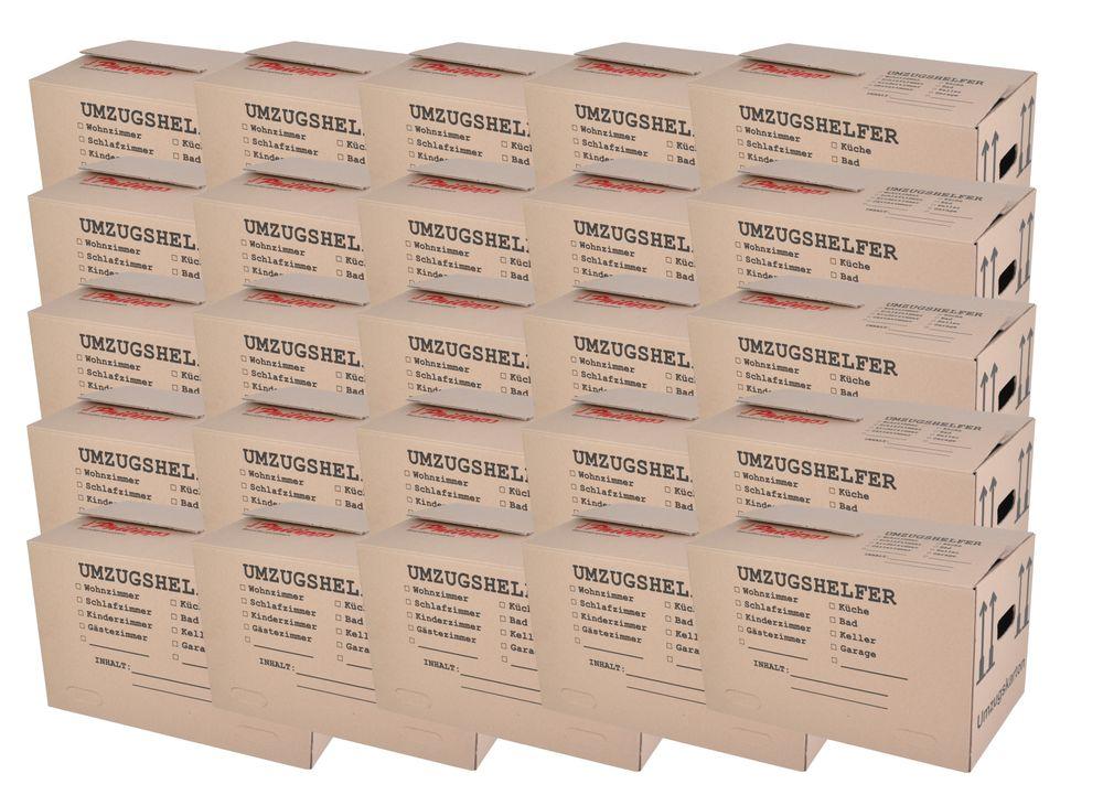 Umzugskarton 25 Stück bedruckt 59x34x35cm Traglast bis 30kg Aufbewahrung Kiste  – Bild 1
