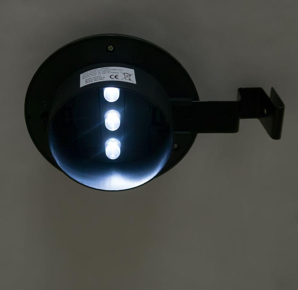 Solar LED Dachrinnenleuchte Gartenleuchte Solarlampe Zaunleuchte Aussenleuchte  – Bild 2
