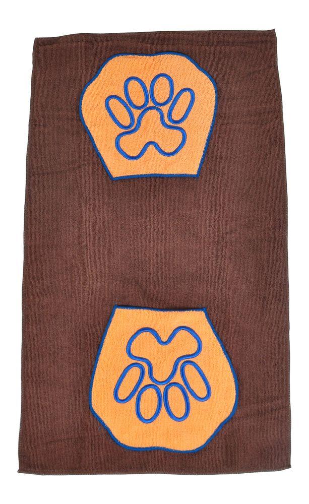 Microfaser Tierpflege-Set Funktions- Handtuch + Waschhandschuh Hunde Kleintiere – Bild 3