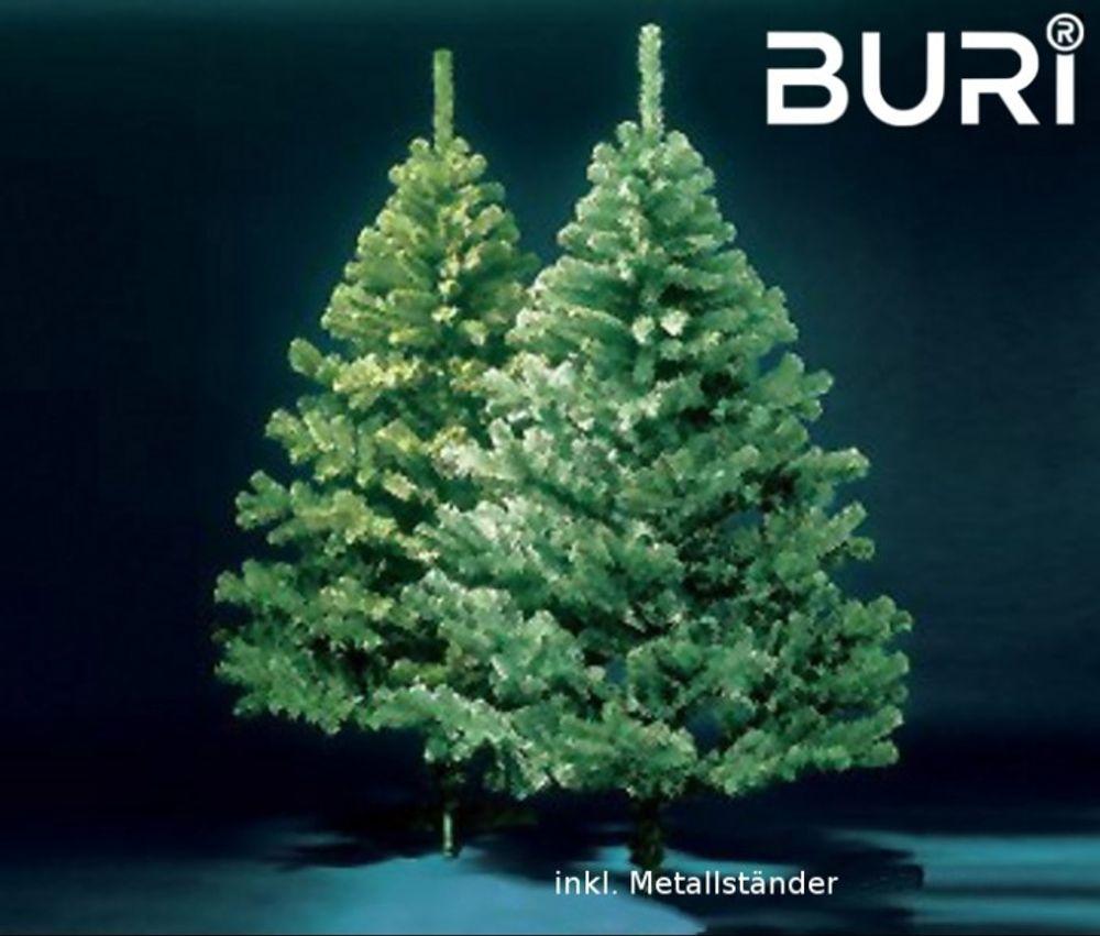 BURI® künstlicher Weihnachtsbaum 210cm Tannenbaum Christbaum Tanne Kunstbaum – Bild 1