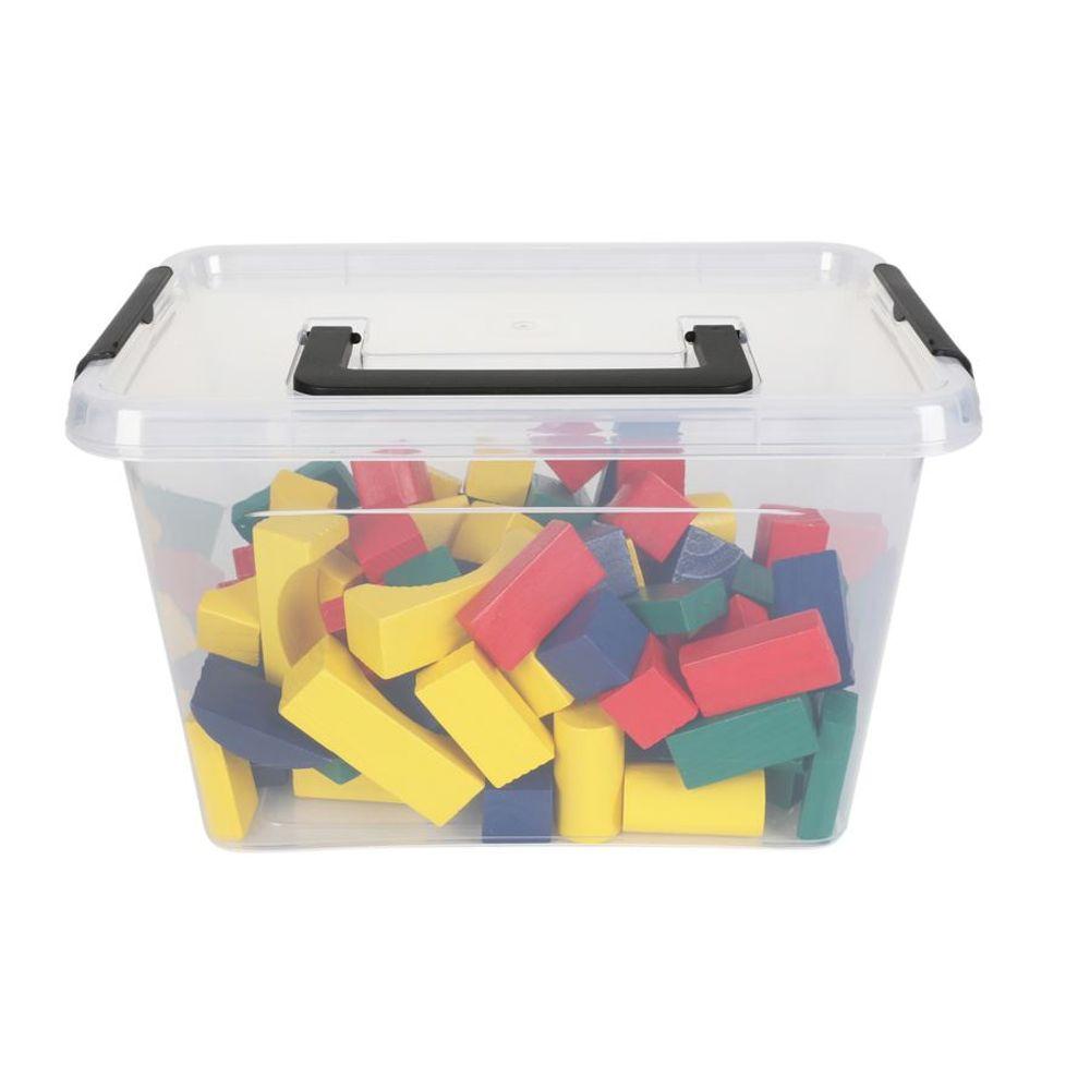 Aufbewahrungsbox mit Deckel und Tragegriff Sammelbox Stapelbox Kiste Allzweckbox – Bild 2