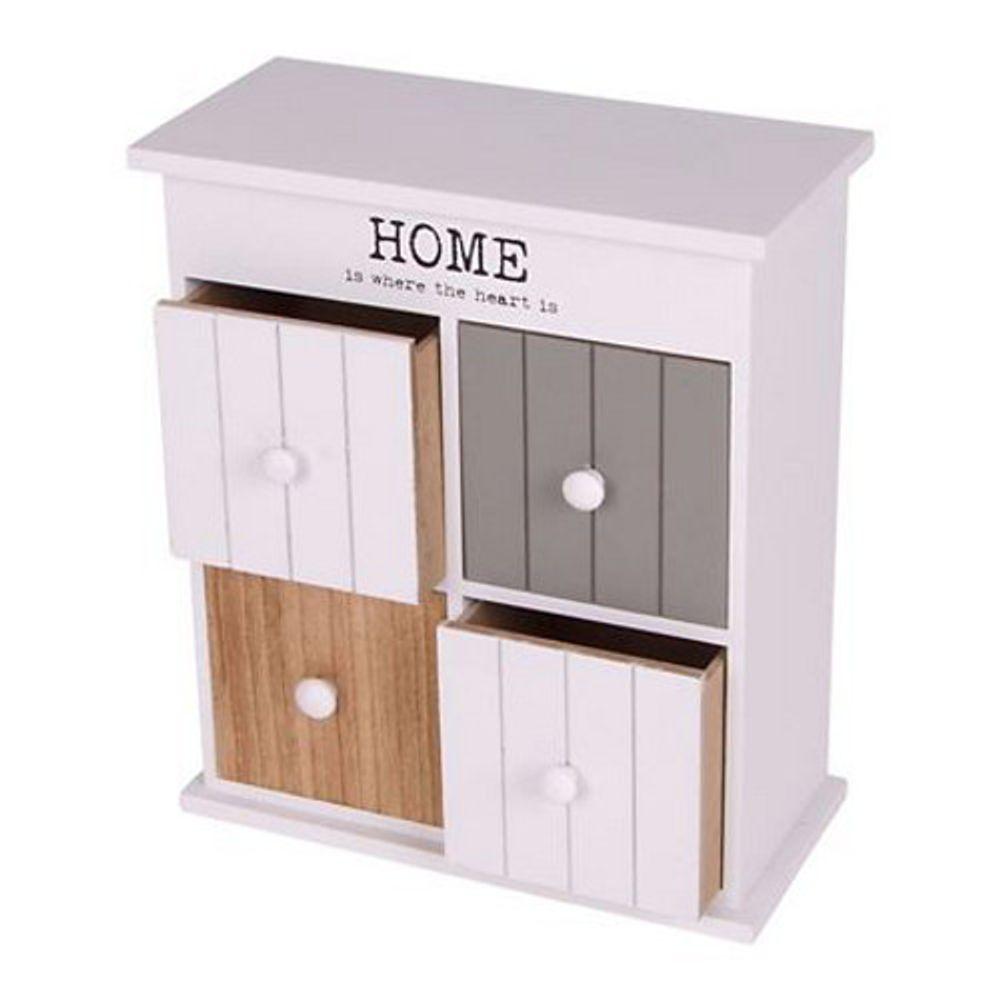 Home Style Kabinettschrank mit 4 Schubladen 23,5x27x11cm Mini Stauraum Blickfang