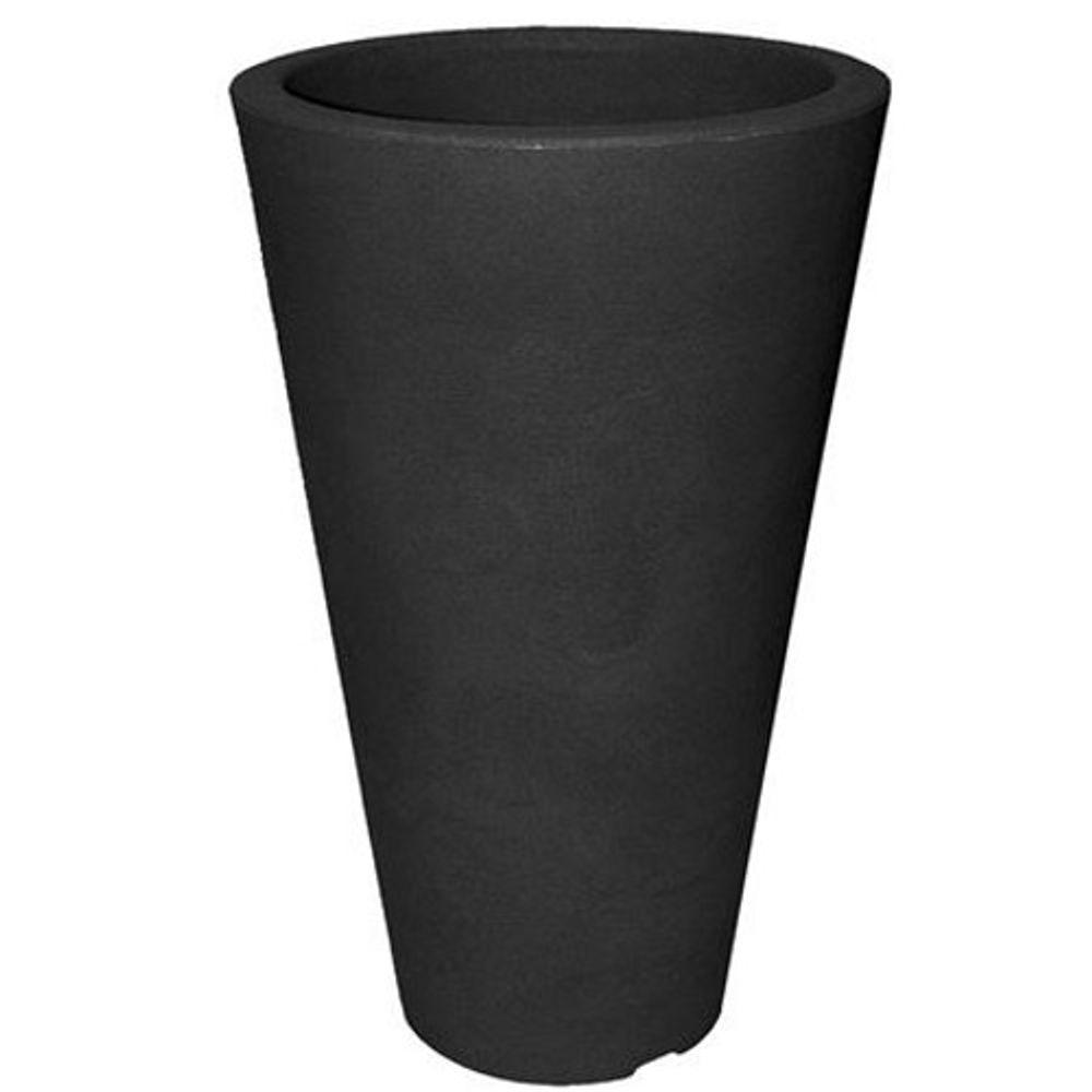 CAPRI Pflanztopf rund D 27,5 cm H 44 cm Kunststoff  Blumenkübel Deko - Element