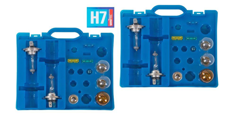 2x Auto-Ersatzlampen-Koffer H7 Scheinwerfer Bremslicht Blinklicht Rücklicht  – Bild 1
