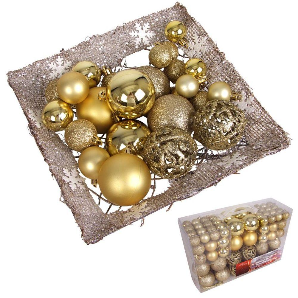 100er-Set Weihnachtsbaumkugeln Baumschmuck Christbaumkugeln Weihnachtskugeln  – Bild 3