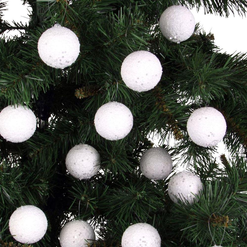 24 Schneeball-Weihnachtsbaumkugeln Christbaumkugeln Baumschmuck Weihnachtsdeko – Bild 1