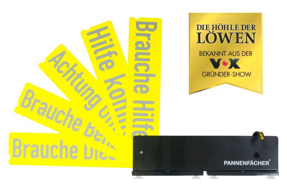 Auto Pannenfächer mit Hinweiskarten Warndreieck Pannenhilfe Unfallwarner PKW – Bild 1