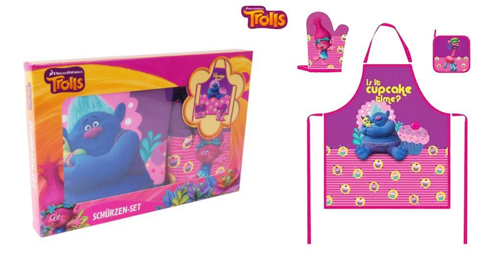 Kinder-Küchenset Kochschürze Topflappen Handschuh Bastelschürze Werkenschürze – Bild 1