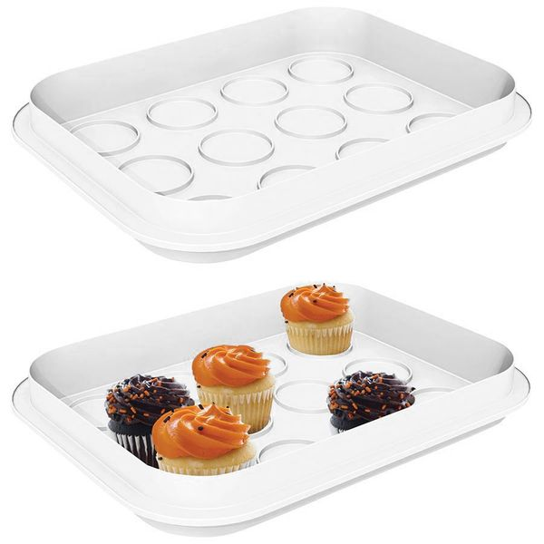 Party-Container 3in1 Partybutler Muffinbox Servierschale Knabberschale Transport – Bild 3