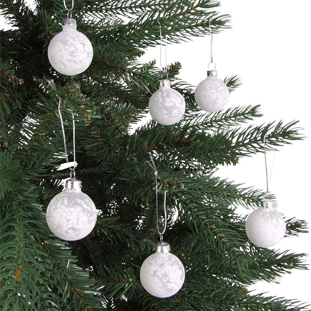 Glas-Weihnachtsbaumkugeln 6er-Set 4cm Christbaumkugel Adventsdeko Baumschmuck  – Bild 9