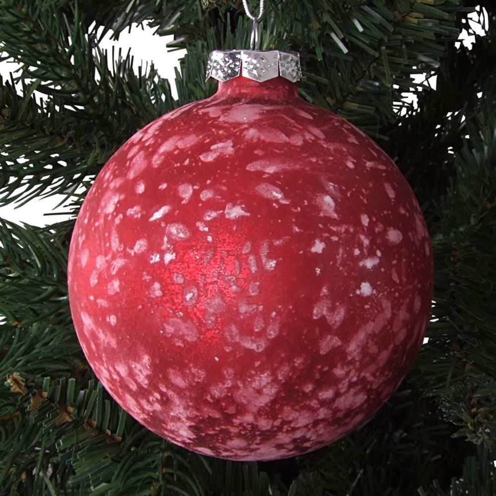 Glas-Weihnachtsbaumkugeln 2 Stück 9cm Christbaumkugel Adventsdeko Baumschmuck  – Bild 4