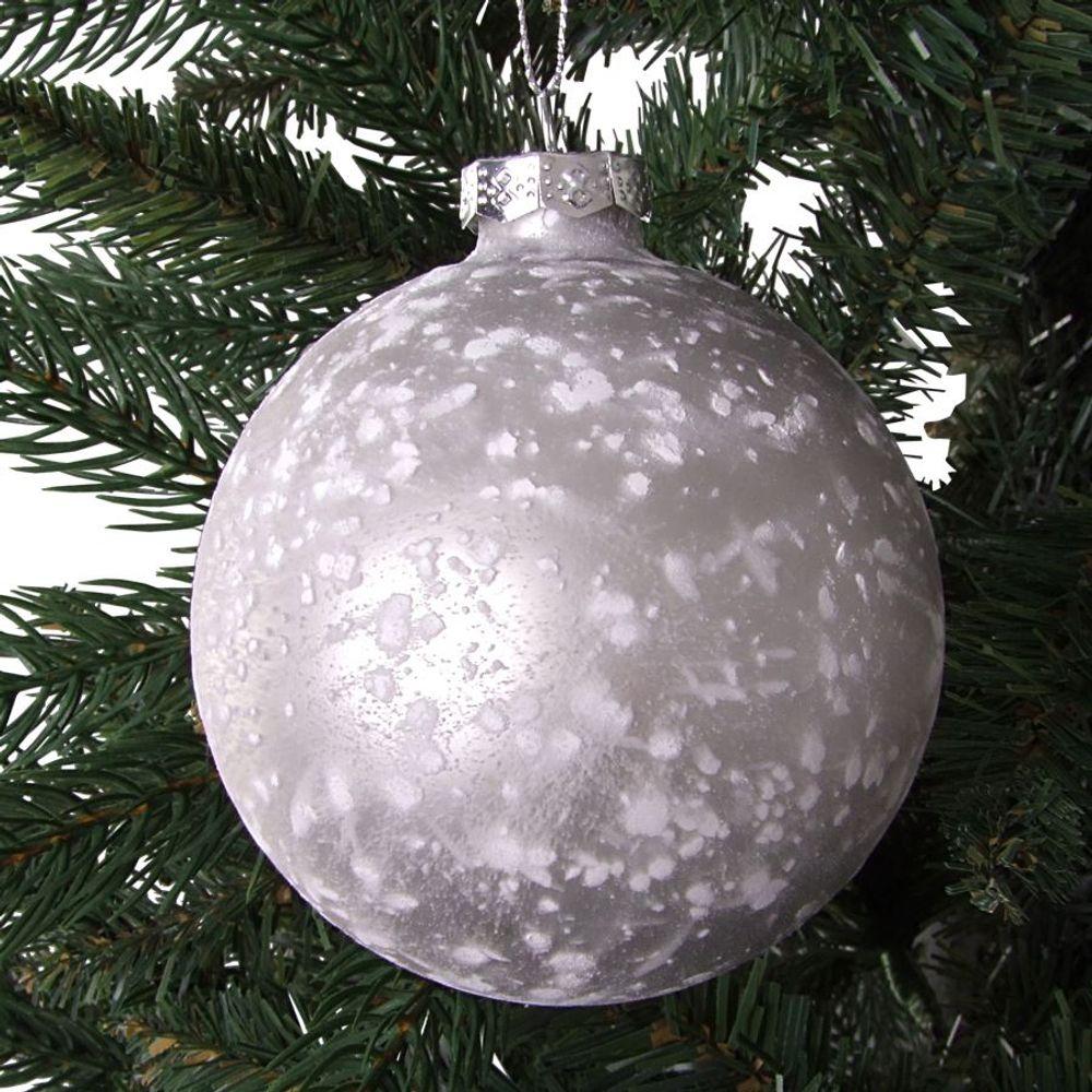 Glas-Weihnachtsbaumkugeln 2 Stück 9cm Christbaumkugel Adventsdeko Baumschmuck  – Bild 6