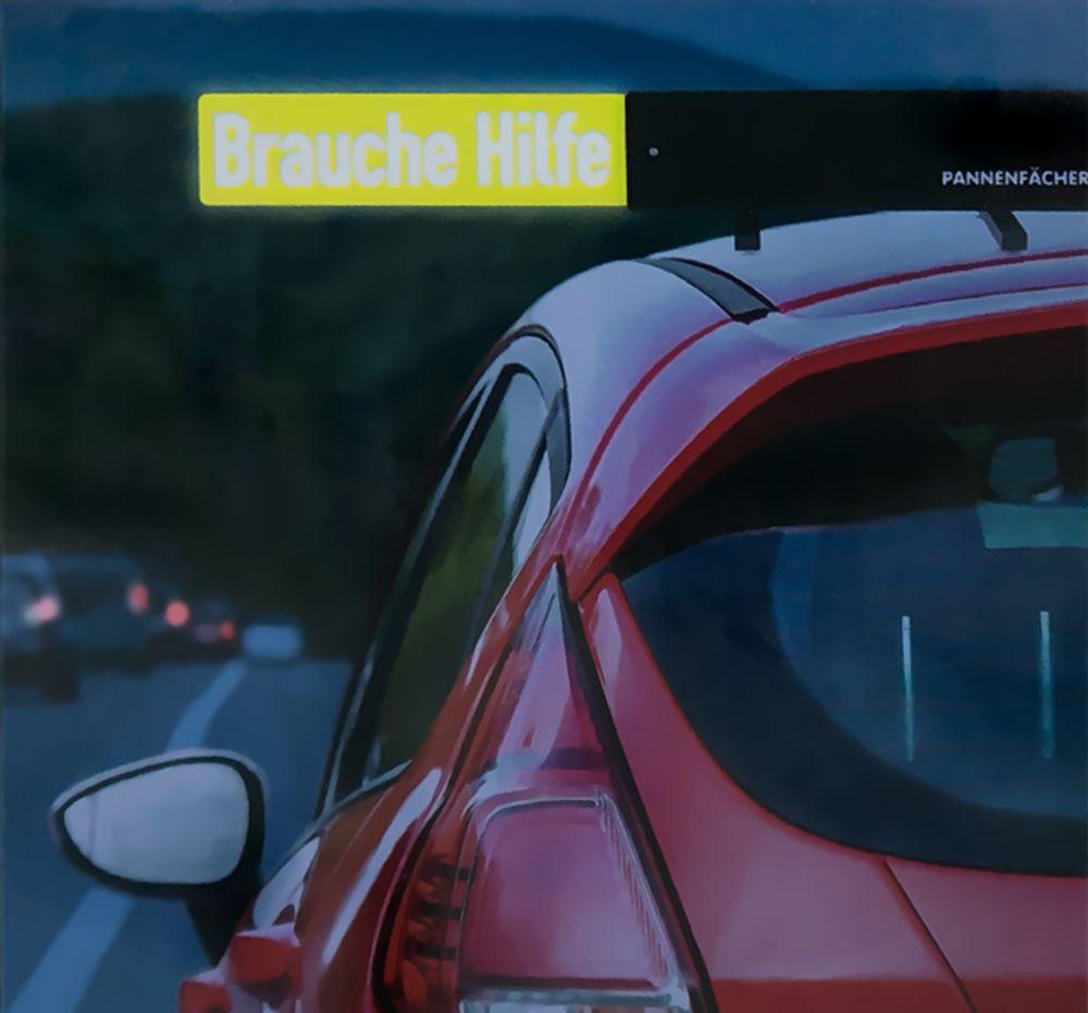 Auto Pannenfächer mit Hinweiskarten Warndreieck Pannenhilfe Unfallwarner PKW – Bild 3