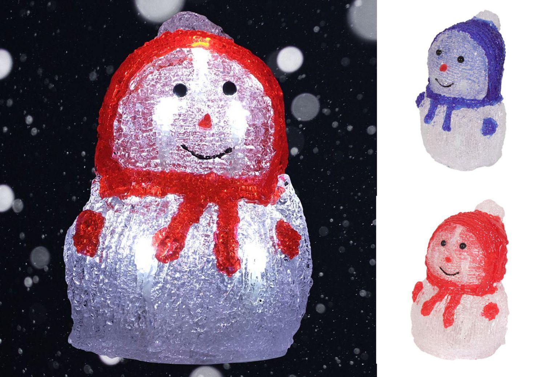 Weihnachtsdeko Aus Acryl.Led Acryl Schneemann 16x11cm Winterdeko Weihnachtsdeko Weihnachtsfigur Dekofigur