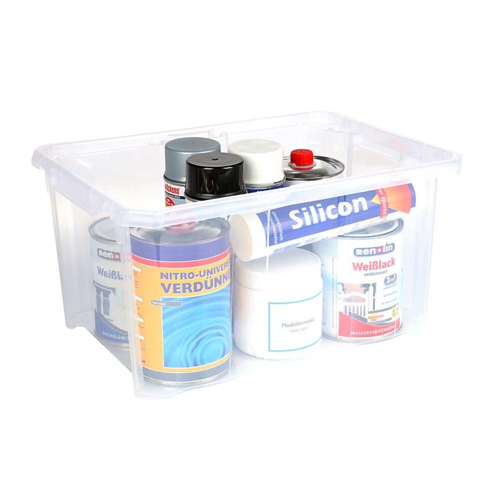 Aufbewahrungsbox 40x29x20,5cm Stapelbox Werkzeugkiste Spielzeugkiste Kunststoff – Bild 1