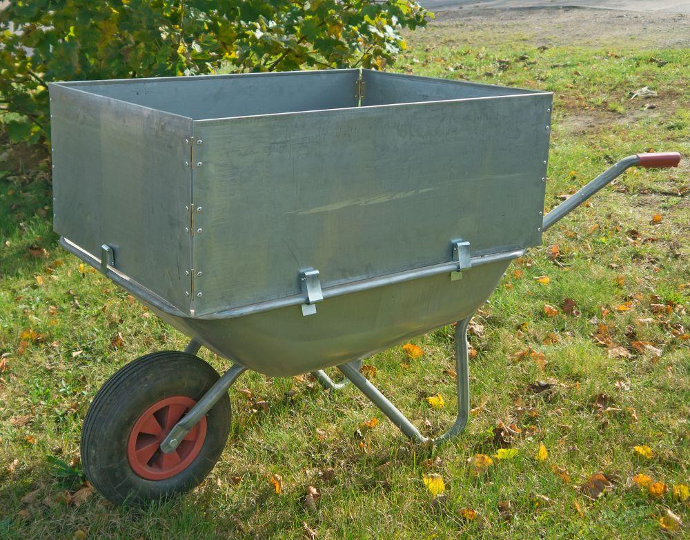 Schubkarrenaufsatz 60x80cm mit Halterung Karrenaufsatz Laubsammler Gartenhilfe – Bild 1