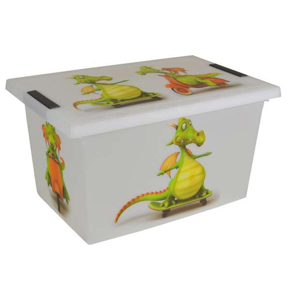 Rollenbox Drache Aufbewahrungsbox Spielzeugkiste Allzweckbox Sammelkiste Rollbox – Bild 1
