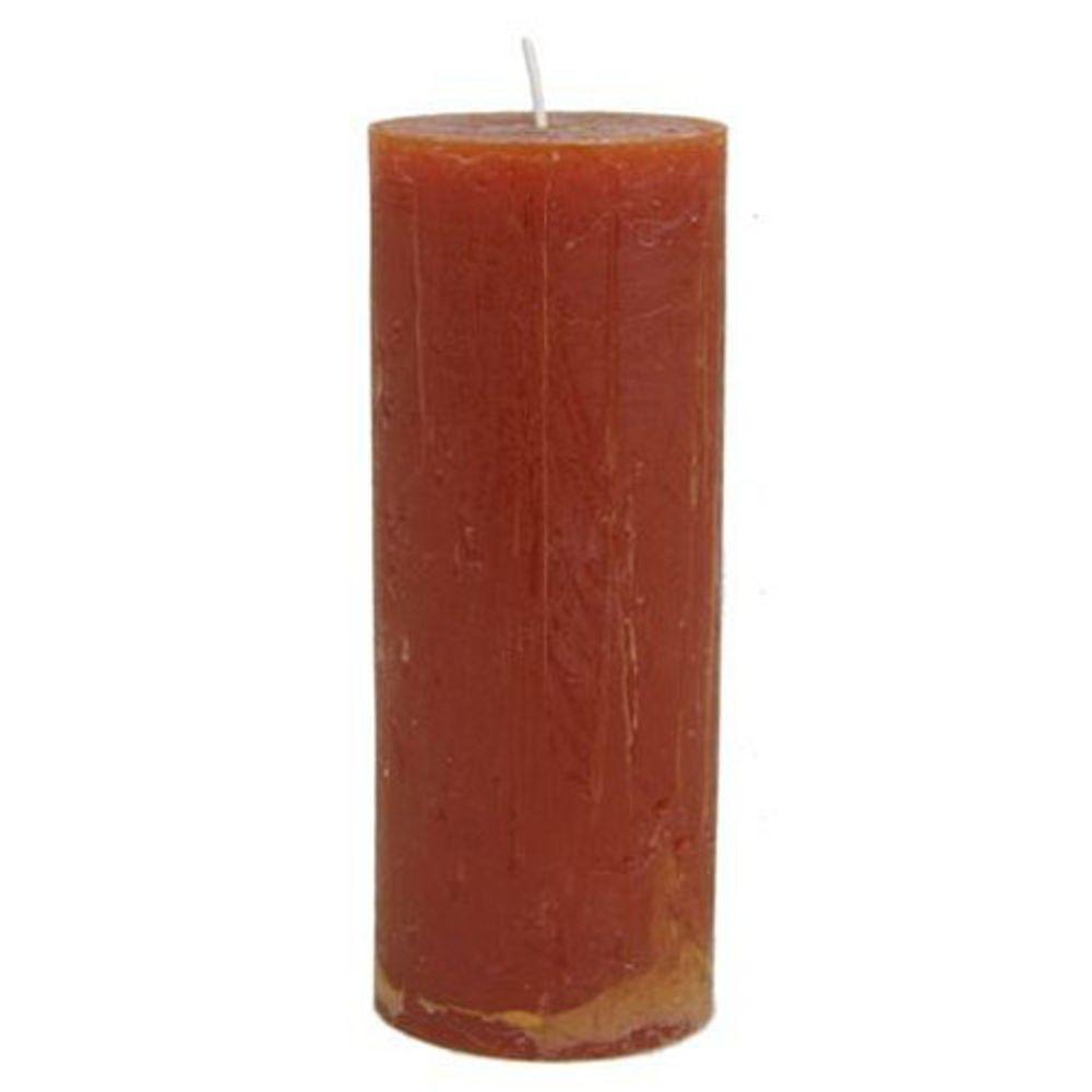 Stumpenkerze Rustika Cognac 70x180mm Blockkerze Tischkerze Weihnachtskerze Kerze