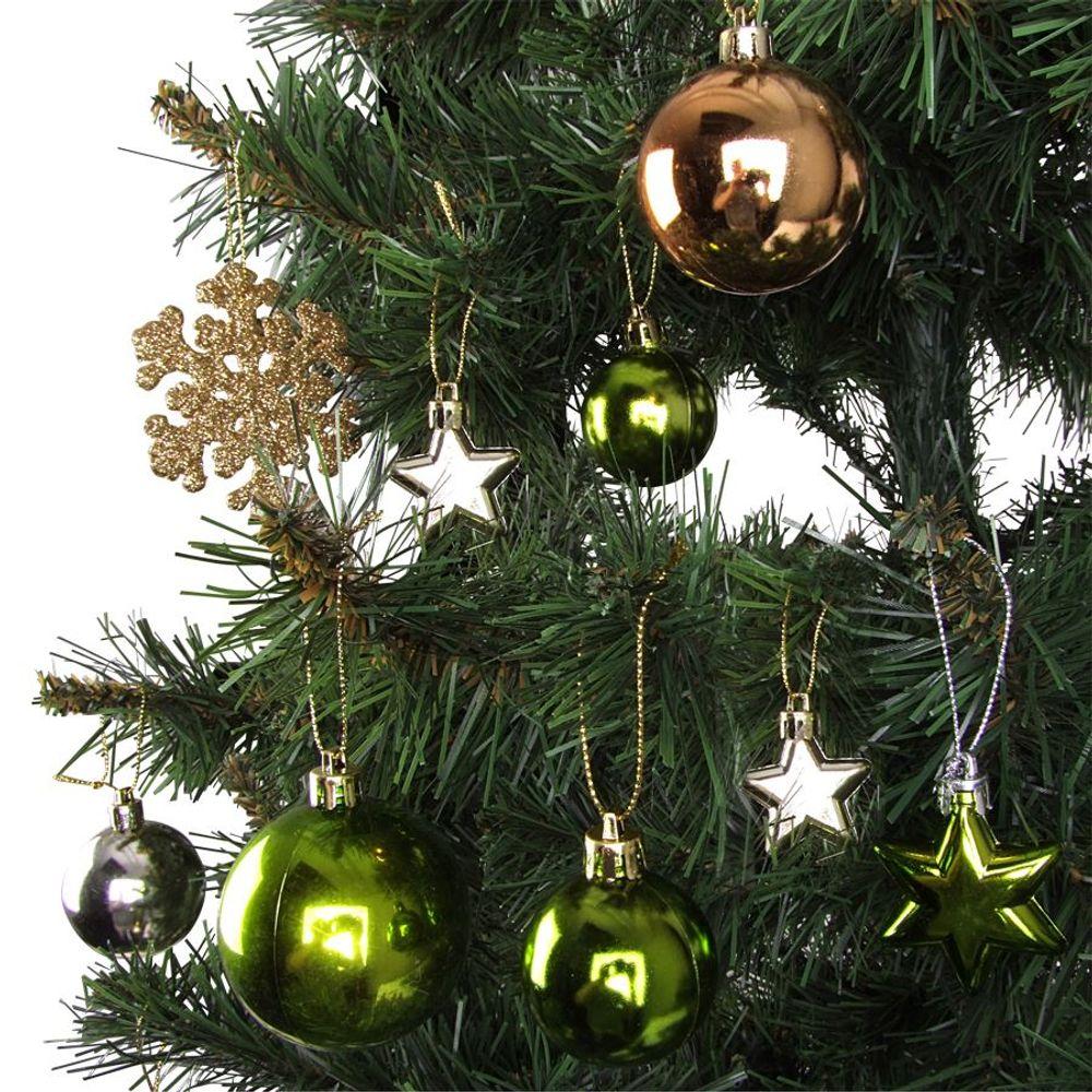 32er-Set Baumschmuck Christbaumkugeln Weihnachtskugeln Weihnachtsbaumschmuck – Bild 7