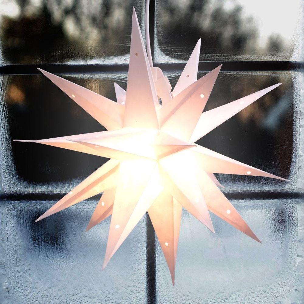 3D Papierstern 40cm Adventsstern Weihnachtsstern Fensterdeko Weihnachtsdeko  – Bild 3