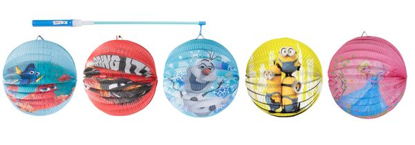 Kinder Laterne Lampion Laternenstab Minions Cars Frozen Dory Nemo Laternenumzug  – Bild 1