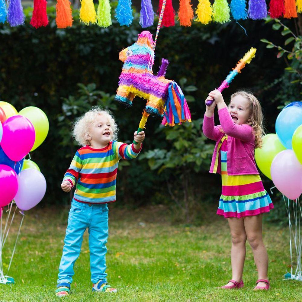 Pinata-Schlagstock 50cm Kindergeburtstag Piñata Partyspiel Motto Party Feier  – Bild 2