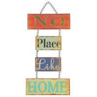 Dekoschild Home 52x26 Blechschild Türschild Wanddeko Türdeko Metallschild Shabby 001