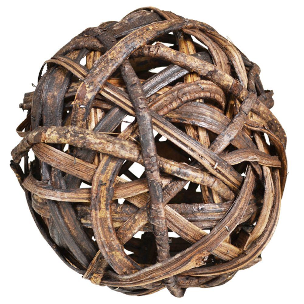 Dekokugel 22cm Weidengeflecht natur Gartenkugel Rebenkugel Weidenkugel Tischdeko