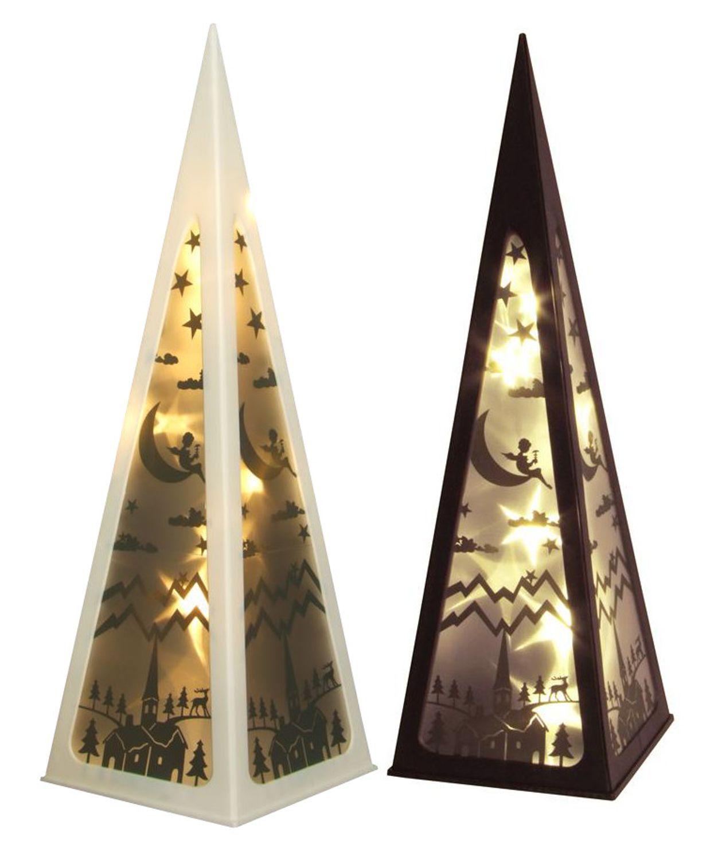 Außergewöhnliche Weihnachtsbeleuchtung.Led Hologramm Pyramide 58cm Laterne Weihnachtsbeleuchtung Dekolampe Leuchtdeko